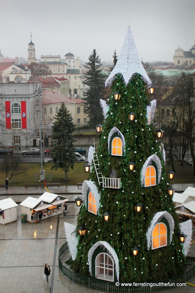 The Vilnius Christmas tree and holiday market
