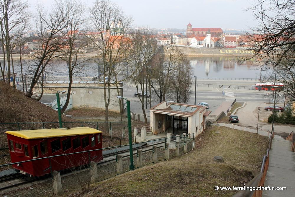 Aleksotas funicular railway Kaunas