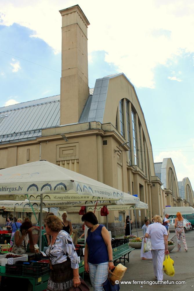 Central Market in Riga Latvia