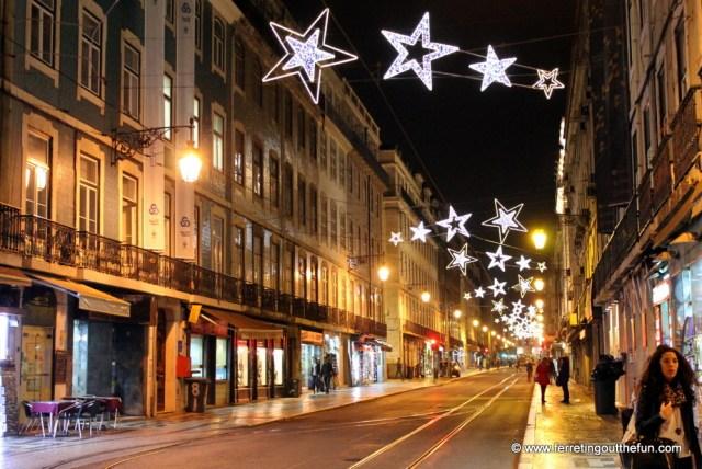 lisbon holiday lights