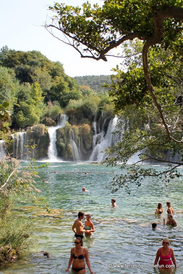 Swimming in Krka National Park Croatia