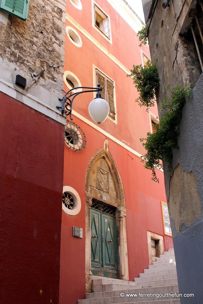 An alleyway in Sibenik, Croatia