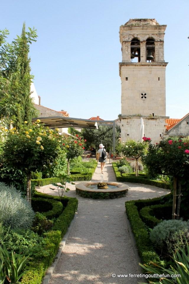 The Medieval Monastery Garden of Sibenik, Croatia
