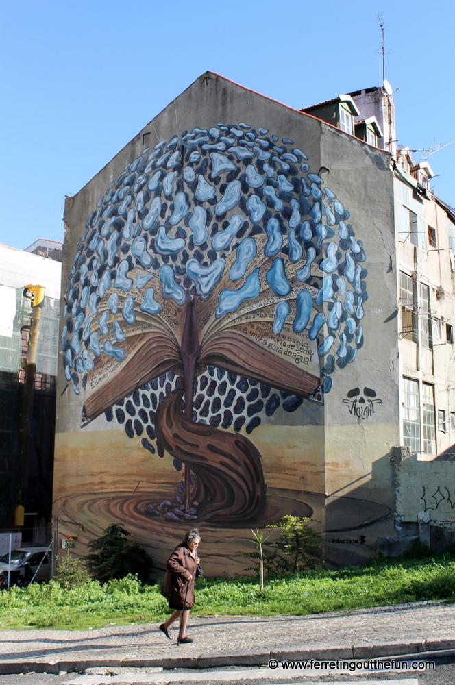 Unique street art in Lisbon, Portugal
