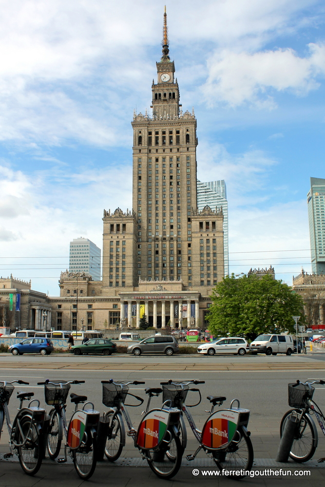 The Soviet Palace of Culture and Science in Warsaw, Poland