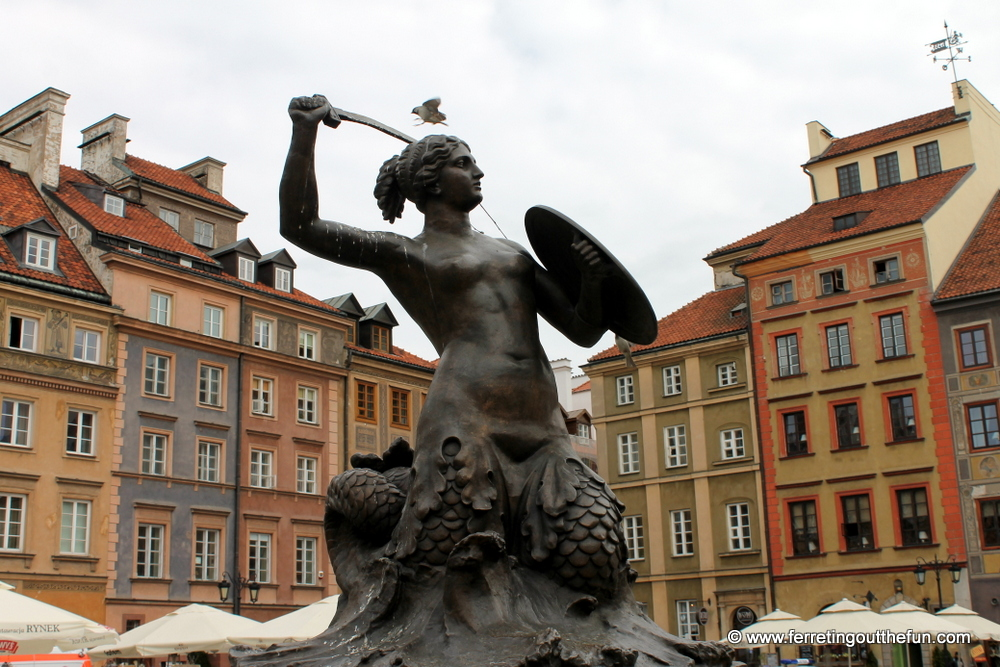 Warsaw mermaid statue