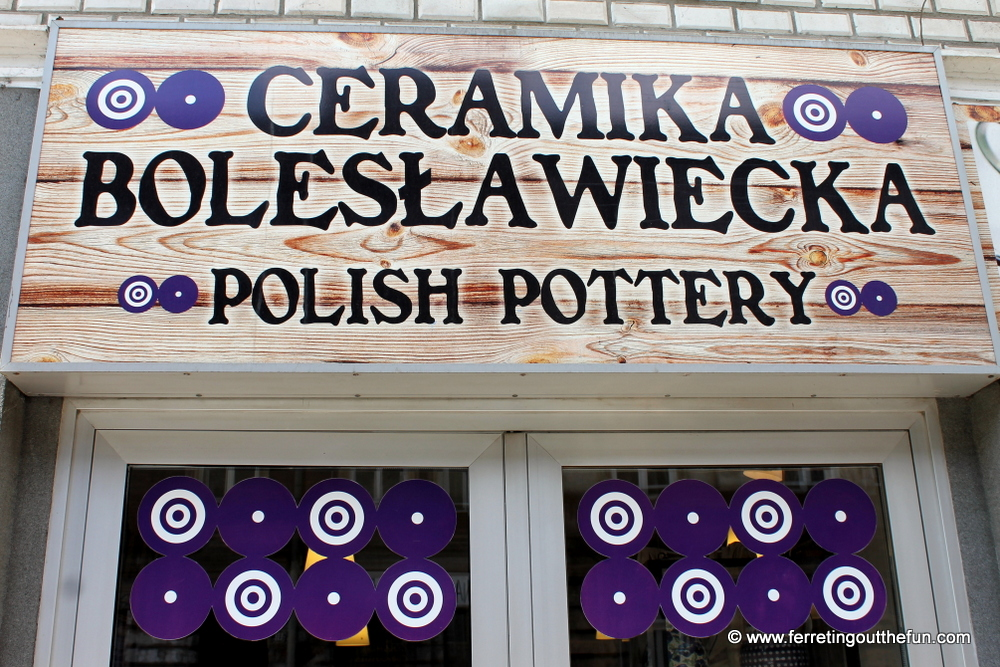 where to buy Boleslawiec pottery in Krakow