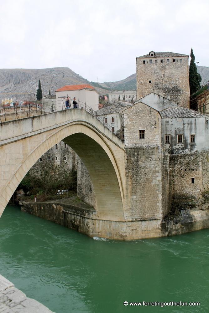 Stari Most, or Old Bridge, in Mostar, Bosnia and Herzegovina