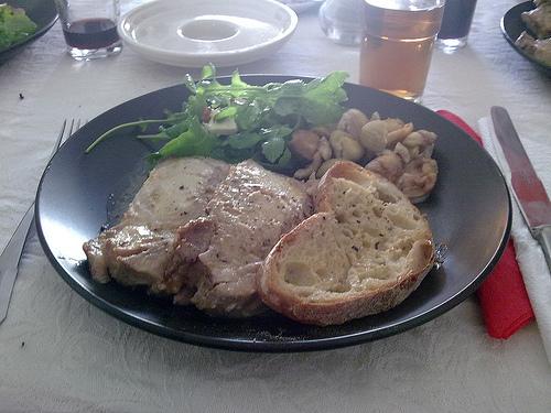 Lombo de porco com mostarda - o prato final