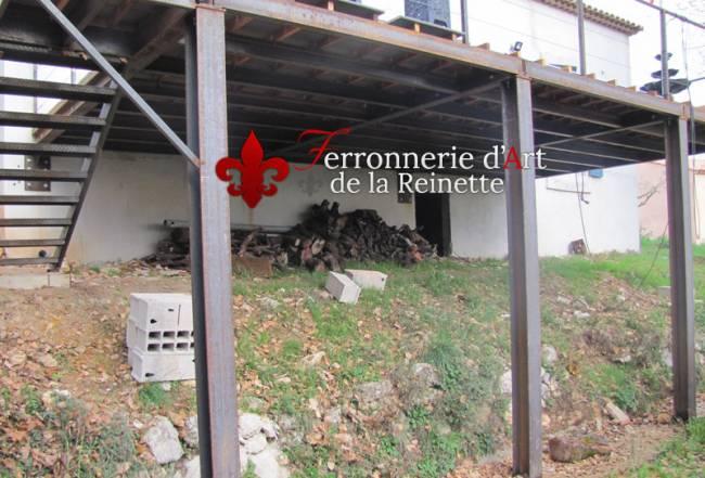 Terrasse Sur Pilotis Structure Metal 224 Hy 232 Res