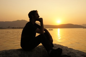 Sonnenuntergang am Pichola-See