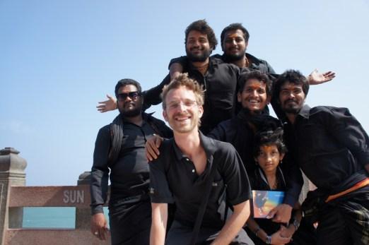 Und noch eine Gruppe von lustigen Pilgern (aus Hyderabad). Sie haben mir besonders viel erklärt und damit sehr weitergeholfen