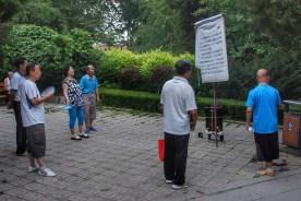 ... in Parks Flipchart-Karaoke gesungen,...