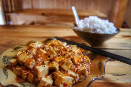 """Als Alternative zu """"richtigen"""" Fleischgerichten wird häufig dieses Pfeffer-Tofu-Chili gereicht"""