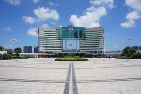 Auch der Bahnhof in Beihai (ebenfalls Guangxi-Provinz) fällt durch den eigenwilligen Baustil auf