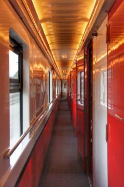 """Ein ganz neuer Zug: Der privatwirtschaftlich betriebene """"ASTRA TRANS CARPATIC"""", der Arad (im Westen Rumäniens) und Bukarest verbindet."""