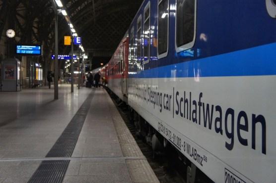 """Erste Etappe: Mit dem Nachtzug """"Metropol"""" von Dresden nach Budapest."""