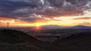 Sonnenuntergang über Tabriz