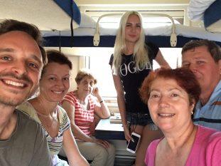 Reisebekanntschaften im Nachtzug von Wolgograd nach Mineralnyje Wody.