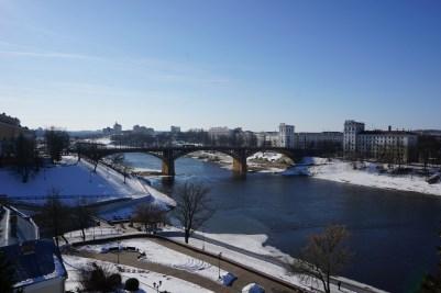 Blick auf den Fluss Dzvina