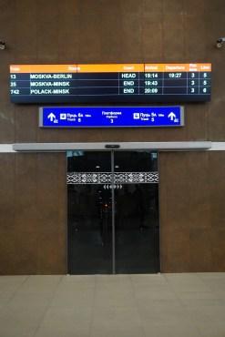 Hauptbahnhof Minsk: kurz vor dem Einstieg in den Nachtzug zurück nach Berlin