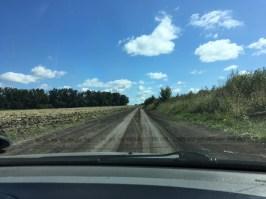 Führt diese Straße zu einem internationalen Grenzübergang? Ja, tut sie!