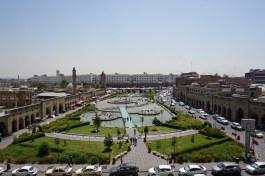 Blick von der Zitadelle auf den Zentralen Platz von Erbil