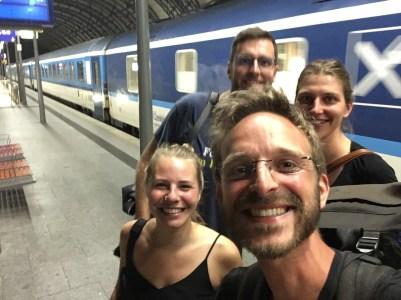 Pünktliche Ankunft in Dresden –nach rund 10.000 Kilometern Überlandreise