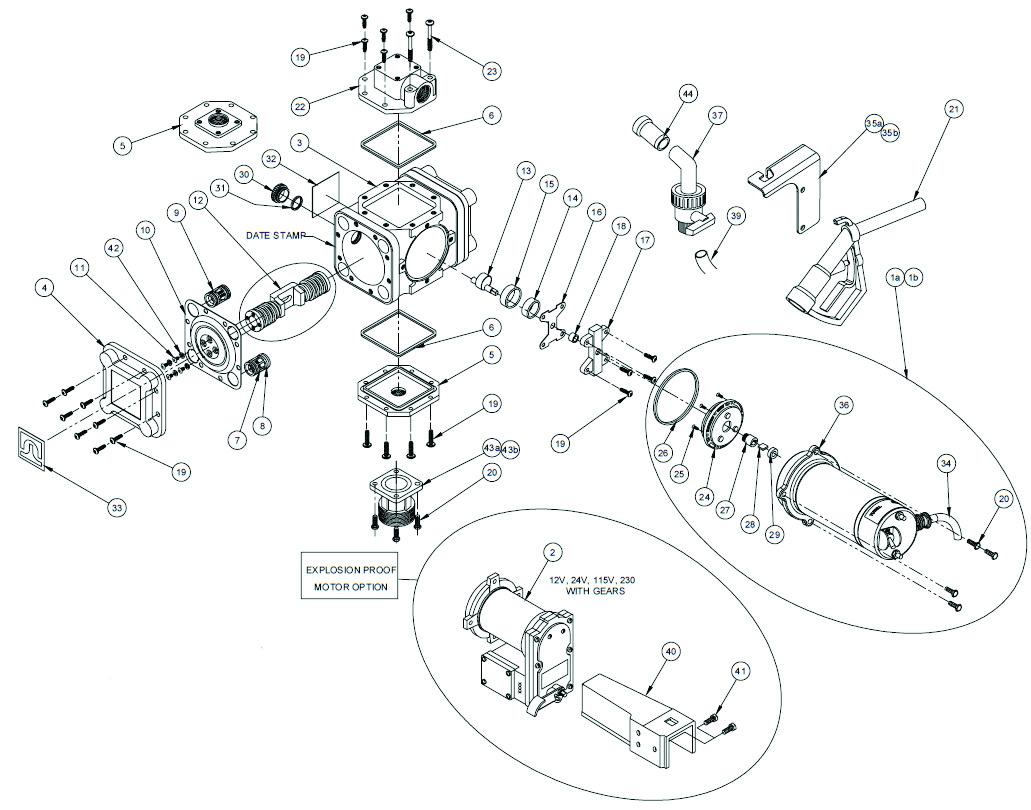 Pump Amp Motor 460 115v 1 Diaphragm Bung Adapt Tube Hose