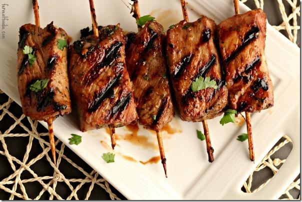 Asian pork skewer recipes
