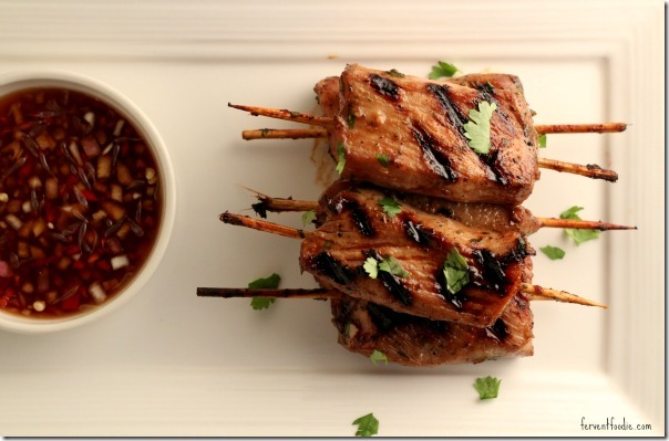 asian pork tenderloin skewers