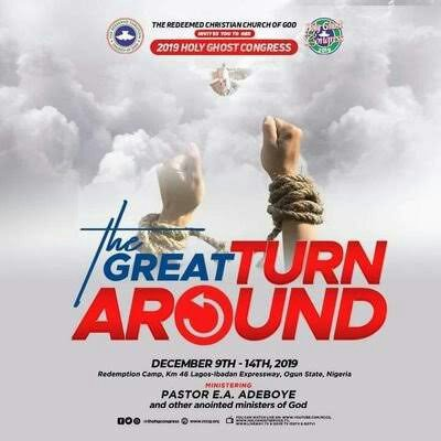 RCCG DECEMBER HOLY GHOST SERVICE – THE GREAT TURN AROUND