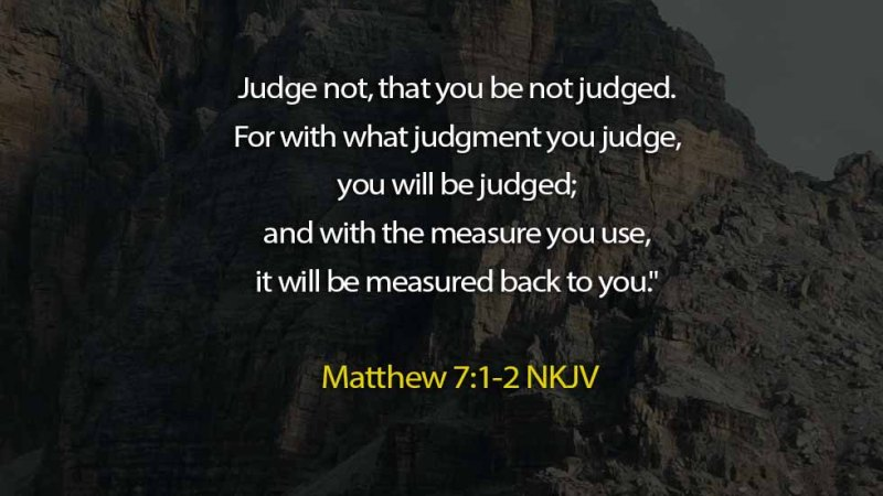 The Light Daily Devotional –  Why you must not Judge