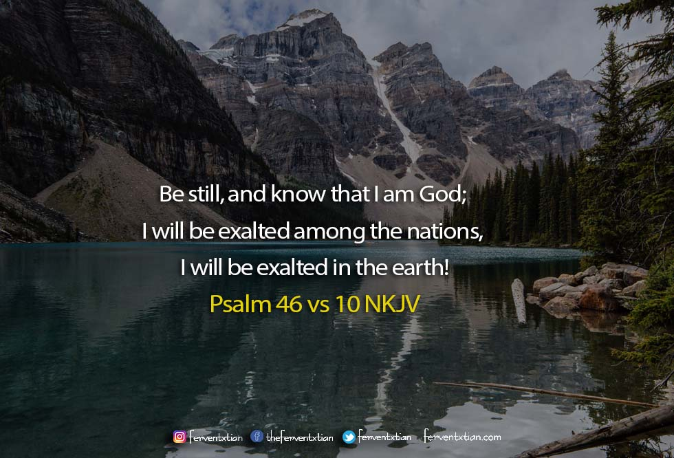The Light Daily Devotional –  Be Still, and know that I am God