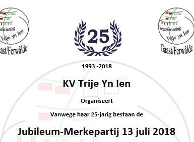 Jubileum-Merkepartij 13 juli 2018