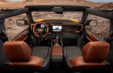 2021 Ford Bronco interior top view