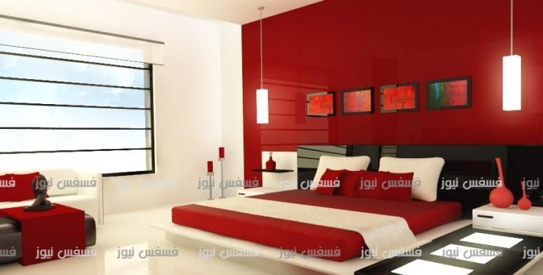 تصاميم ديكور غرف نوم ألوان