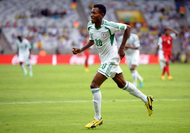 Oduamadi celebrates a goal in the 2013 Confederations Cup festac online