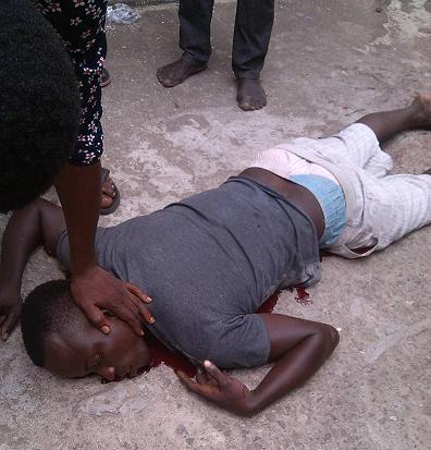 2 Dead , 1 Injured At Forte Oil Station 21 Road. (2)