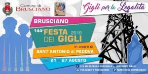 Manifesto Festa dei Gigli Brusciano 2019