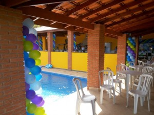 Decoracao com baloes 100