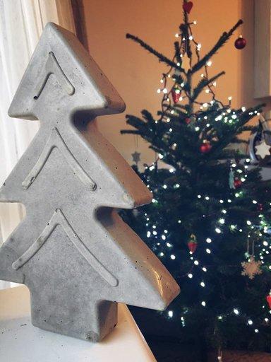 świąteczne dekoracje z betonu