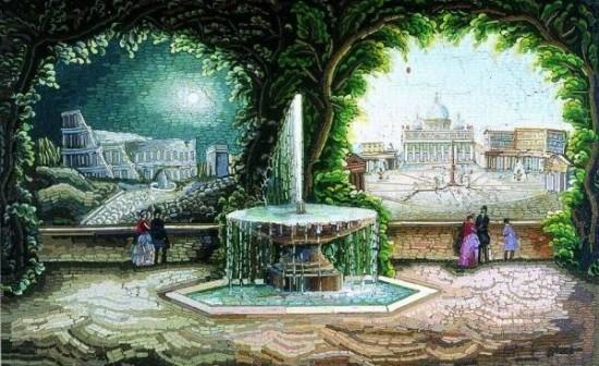 immagini di Roma in micromosaico