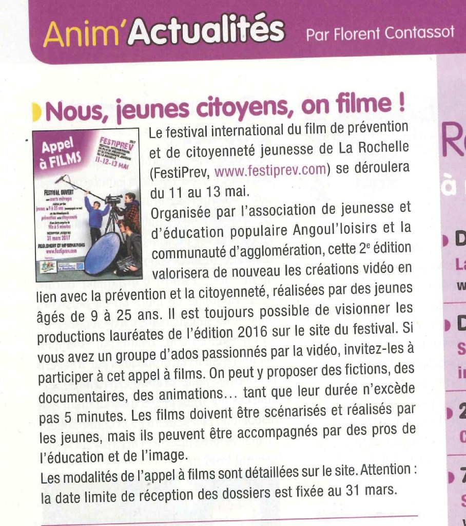 Journal de l Animation Fevrier 2017