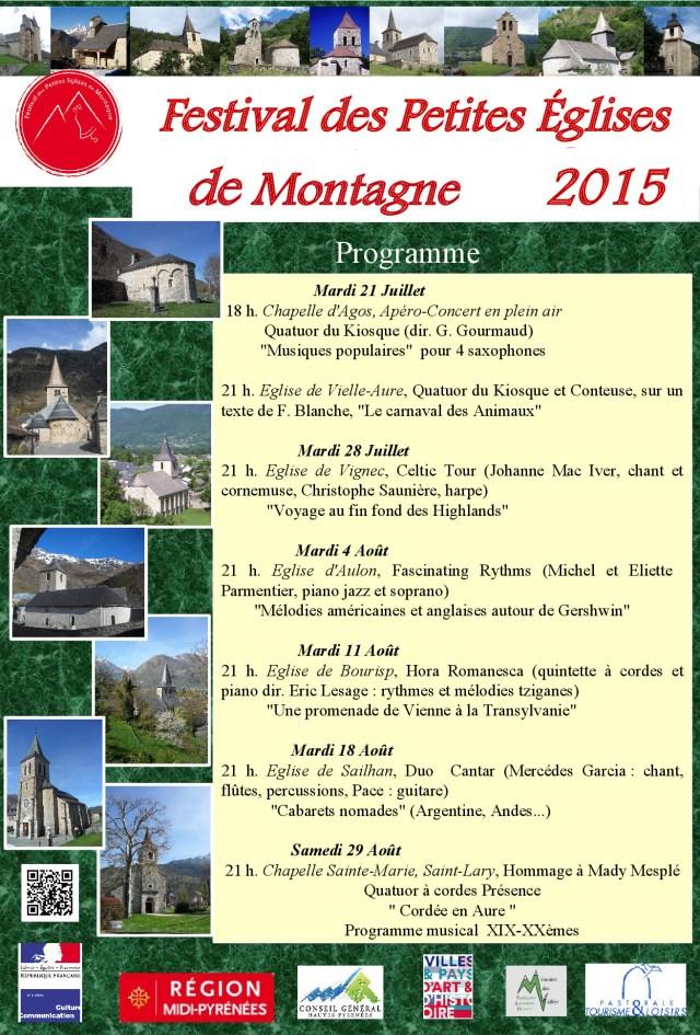 Programmation 2015 du festival des petites églises de montagne