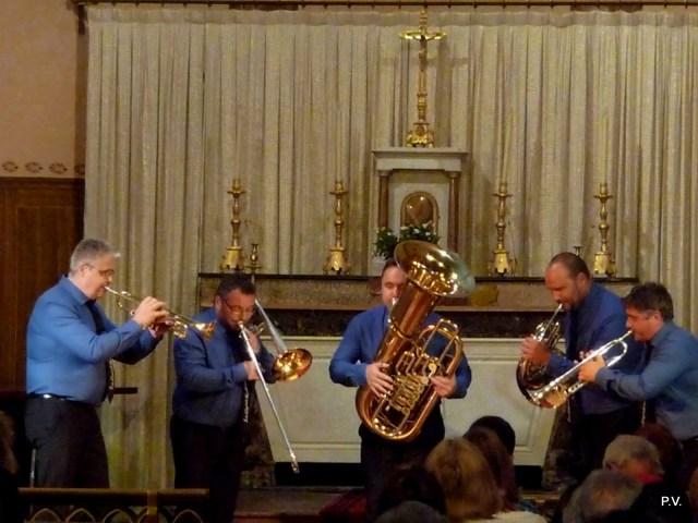 Le Quintette AERÏS en concert dans l'église de Vignec - vallée d'Aure - Pyrénées