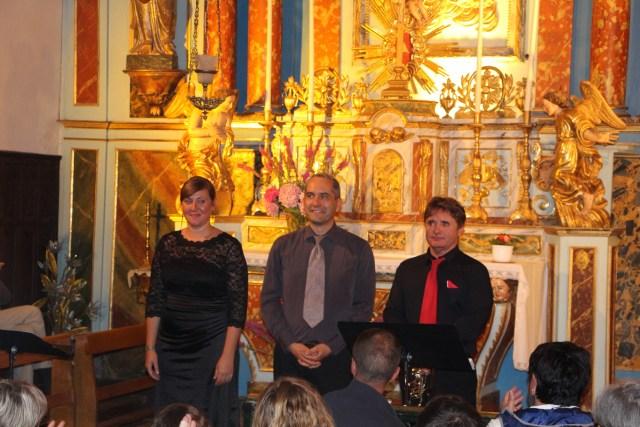 concert de musique baroque du trio Eufonia à Gouaux dans le cadre du festival des petites églises de montagne