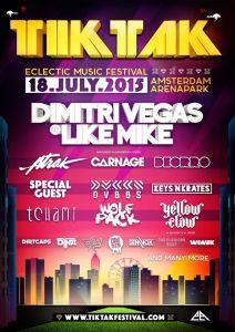 TikTak Festival full line-up