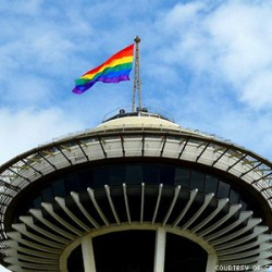 Pride Flag - Space Needle