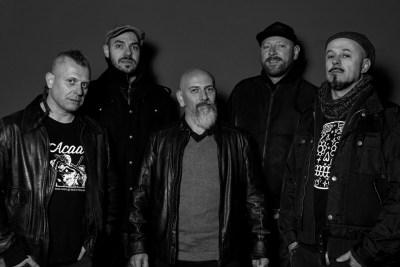 Punkreas - band in bianco e nero
